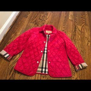 Girls Burberry jacket